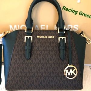 Michael KORS Ciara Racing Green Messenger Bag